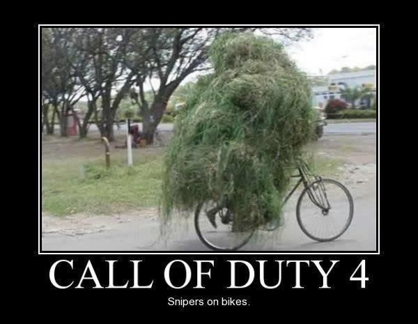 ... -humor-funny-joke-soldier-army-call-of-duty-4-sniper-sniper-bike