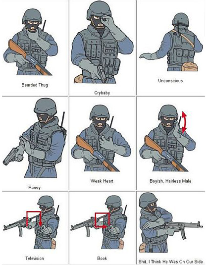 military humor funny joke soldier army swat hand signals meaning 2 swat hand signals explained military humor,Swat Meme