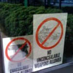 No Unconcealable Weapons Allowed