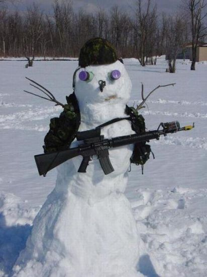 New Winter Camouflage - Military humor