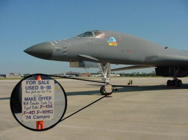 Used B-1B Bomber For Sale - Military humor