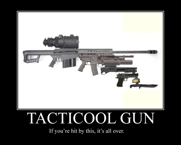 Tacticool Gun - Military humor
