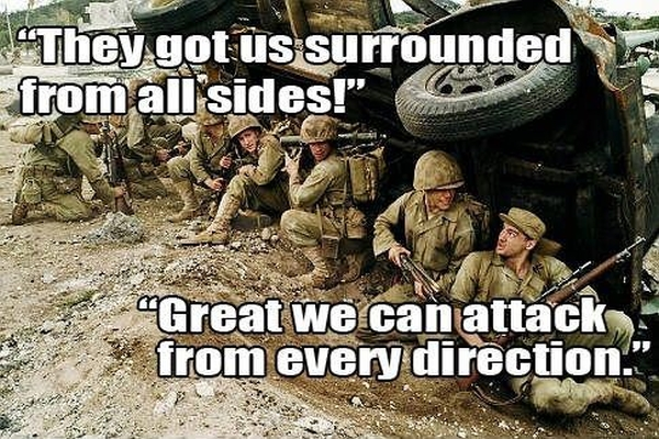 We Are Surrounded! - Military humor