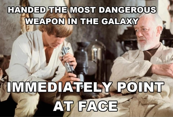 Lightsabre You're Doing It Wrong - Military humor