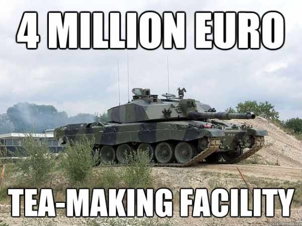 Armored Tea Making Facility - Military humor