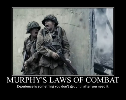 Murphy's law of combat - Military humor