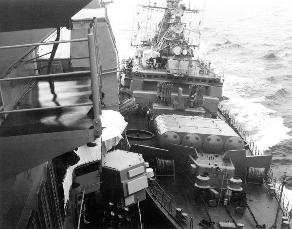 Bezzavetnyy pushing USS Yorktown