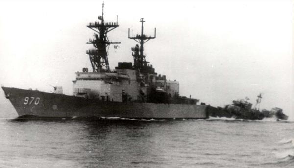 SKR-6 ramming USS Caron