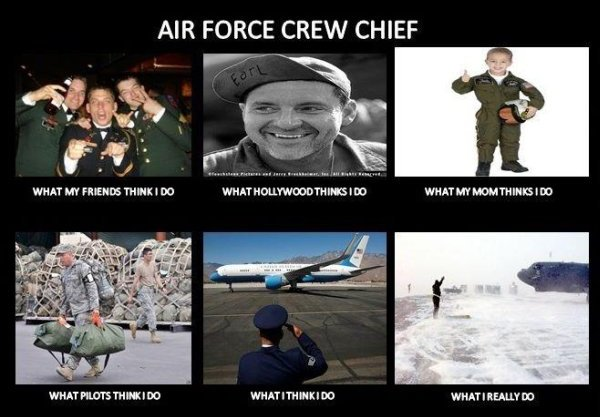 Air Force Crew Chief - Military humor