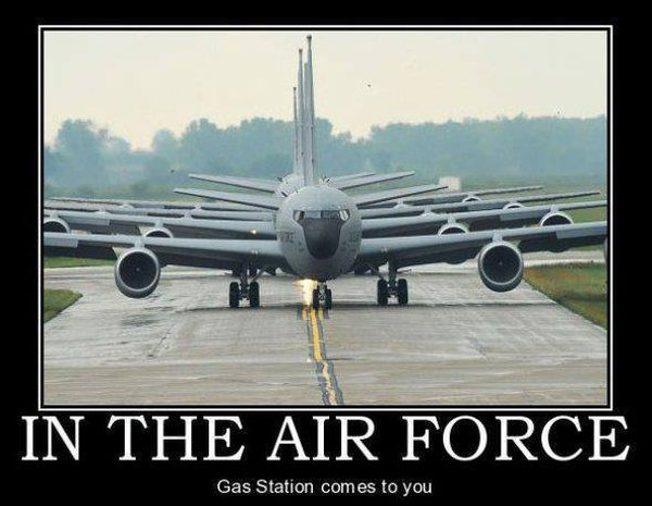 Air Force Gas Station - Military humor