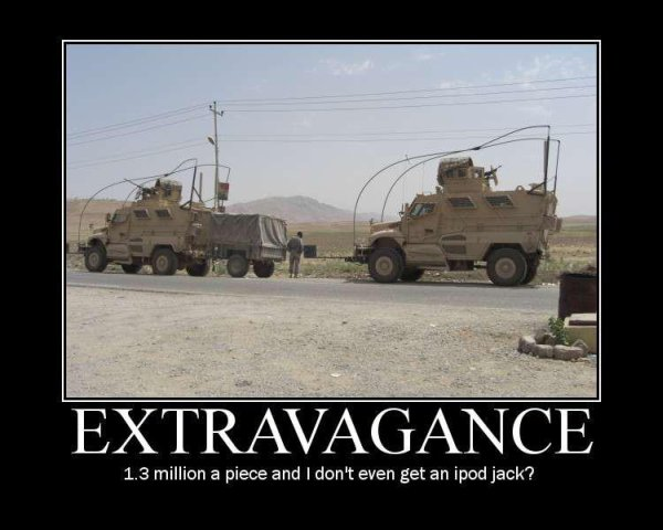 Extravagance - Military humor