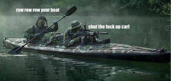 Row Row Row Your Boat - Military humor