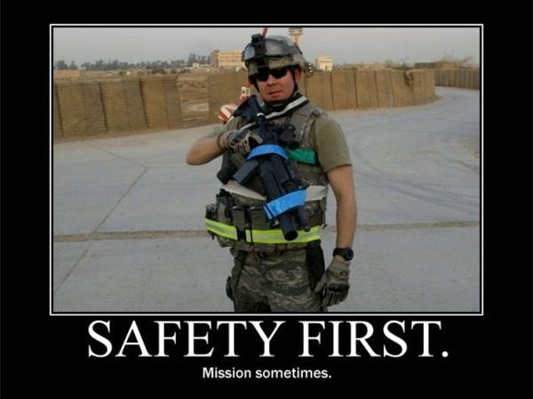 Safety First - Military humor