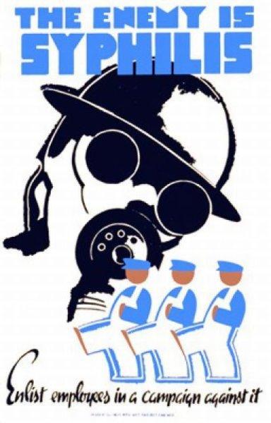 Vintage STD Propaganda Posters - Military humor