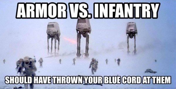 military humor armor vs infantry star wars armor vs infantry military humor