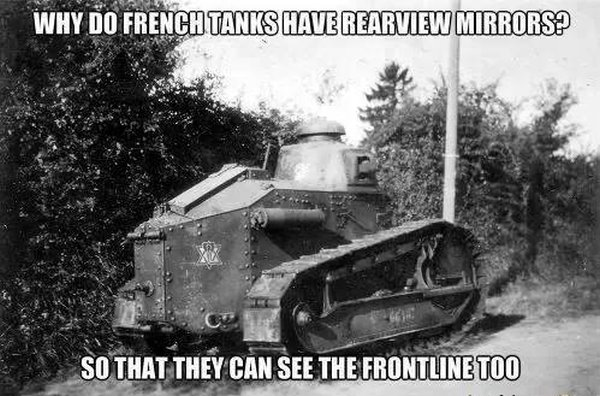 Why do french tanks have rearview mirrors? - Military humor