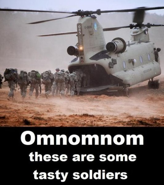 Hungry Helicopter - Military humor