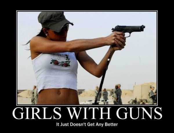 Girls With Guns - Military humor