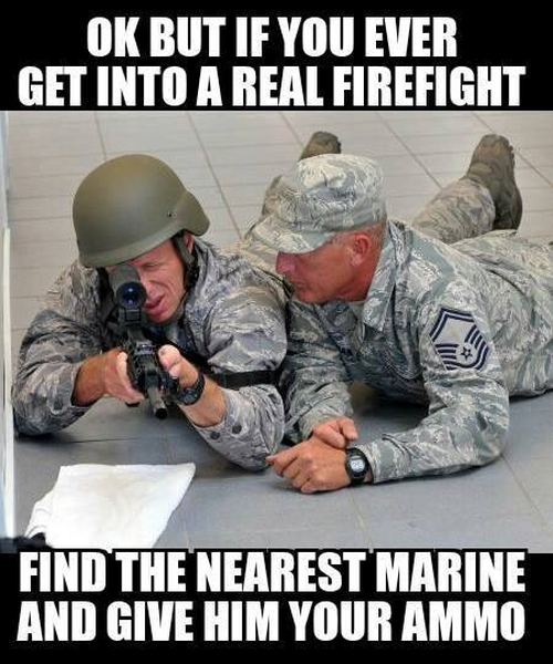 If You Ever Get Into A Real Gunfight... - Military humor