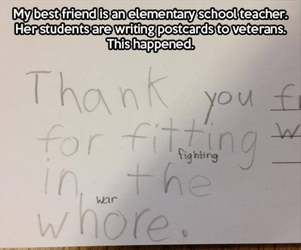 Kids Thanking Soldiers - Military humor