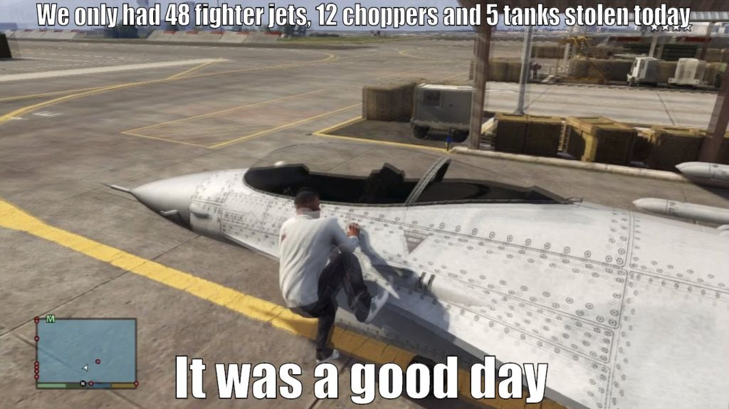 Grand Theft - Military humor
