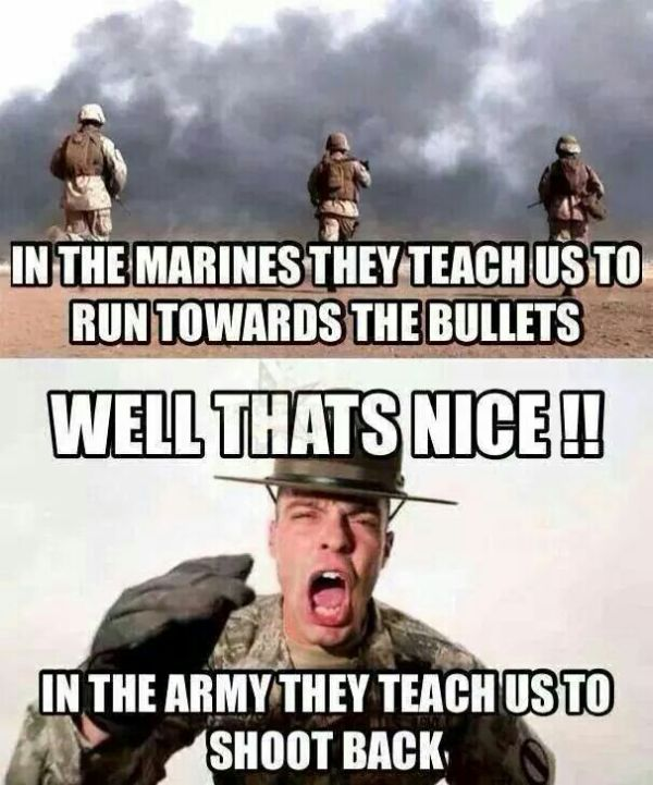 marines vs army military humor