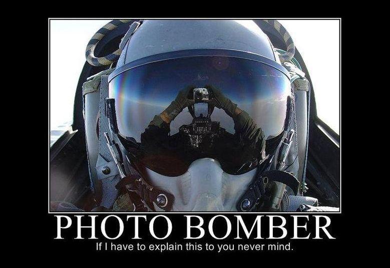 Photo Bomber - Military humor