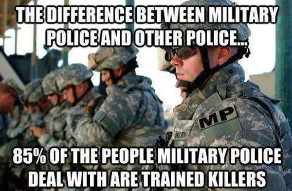 The Difference Between Military Police And Other Police - Military humor