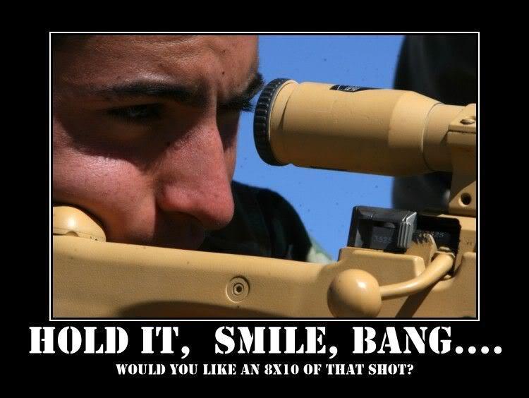 Hold It, Smile, Bang... - Military humor