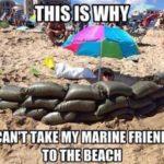Marine At The Beach