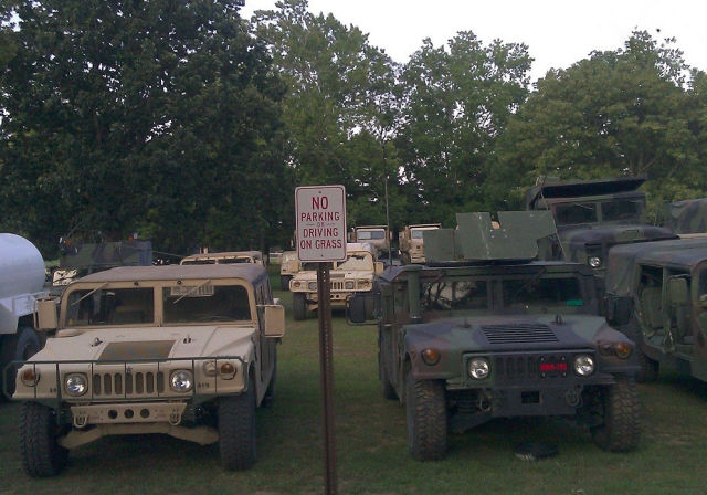 No Parking Or Driving On Grass - Military humor