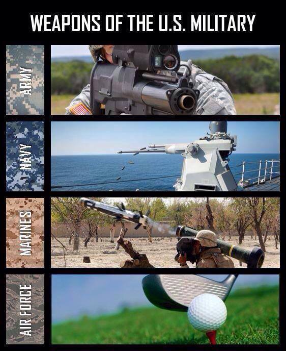 Weapons Of The U.S. Military - Military humor