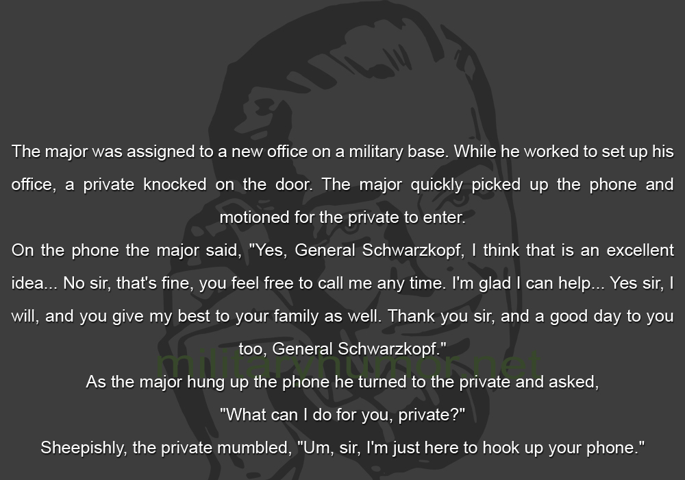 Major Problem - Military humor