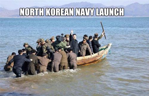 North Korea Navy Launch - Military humor