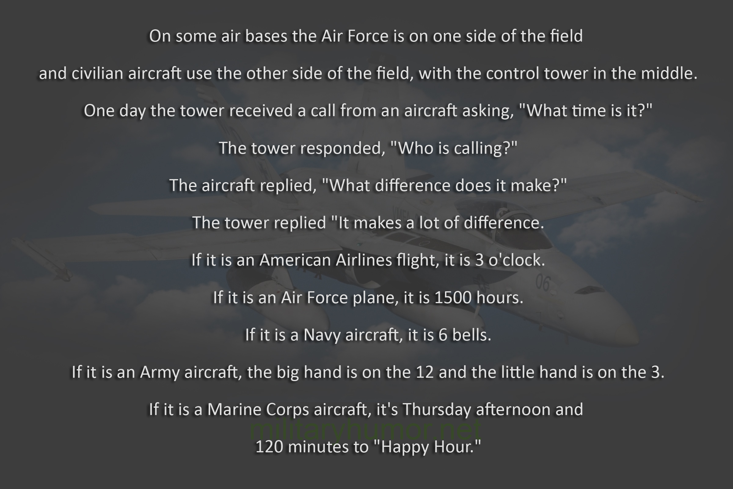 What Time Is It At The Airport? - Military humor