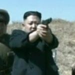 Kim Jong-Un Firing a Handgun