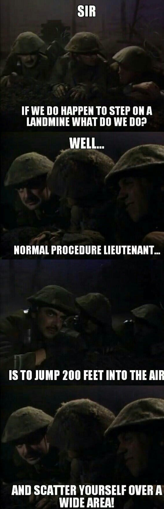 Landmine Normal Procedure - Military humor