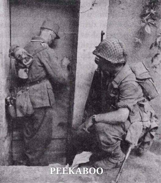 Peekaboo - Military humor