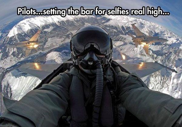 Pilot Selfies - Military humor