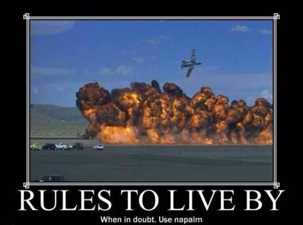 Rules To Live By - Military humor