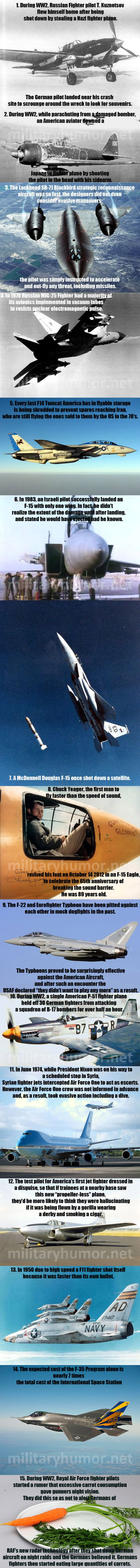 15 Awesome and Interesting Facts About Military Aircraft - Military humor