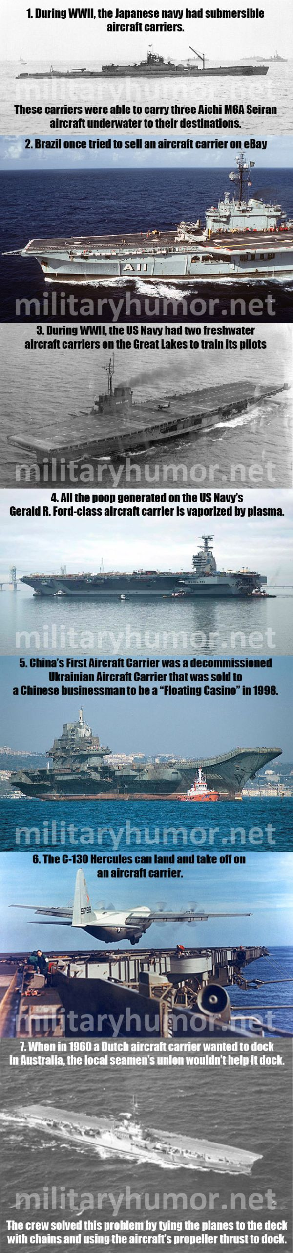 Amazing Facts About Aircraft Carriers - Military humor