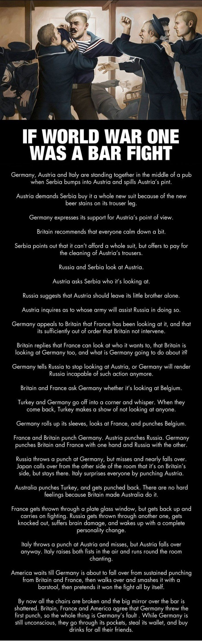 If World War One Was A Bar Fight - Military humor