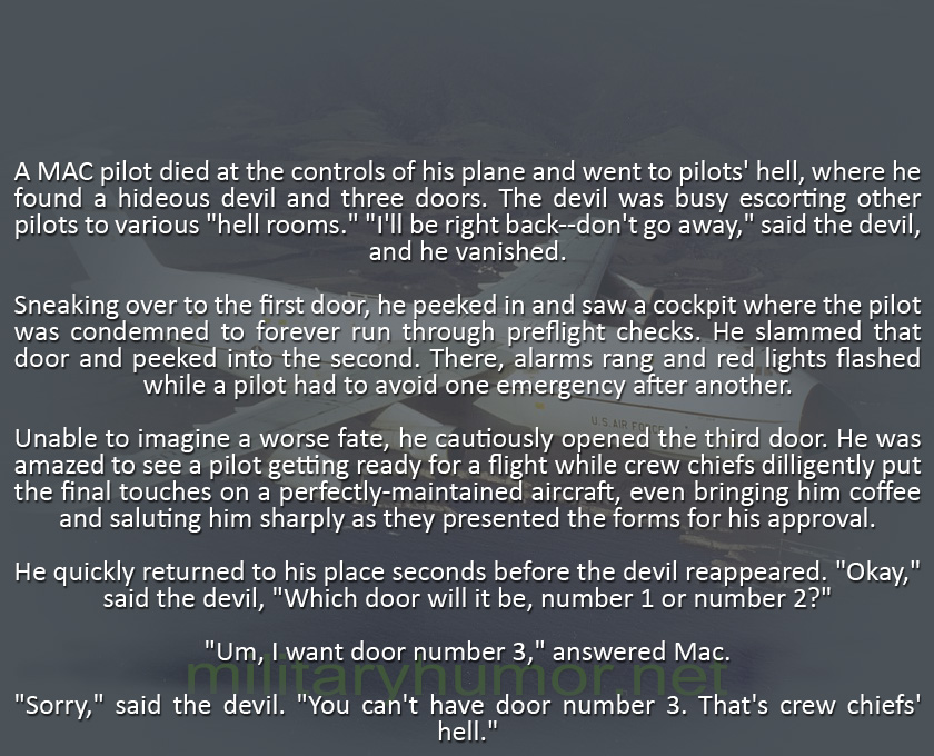Pilots' Hell - Military humor