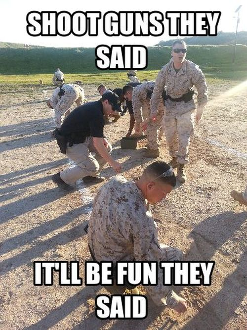 Shoot Guns They Said... - Military umor