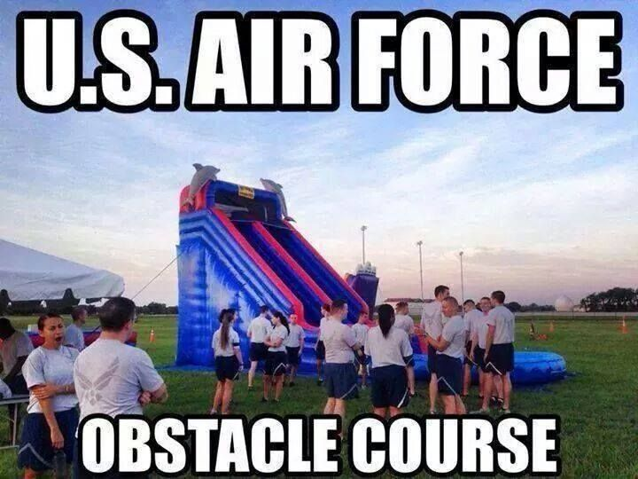 U.S. Air Force Obstacle Course - Military humor