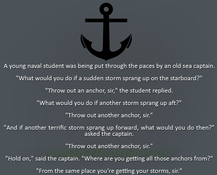 A Young Naval Student - Military humor