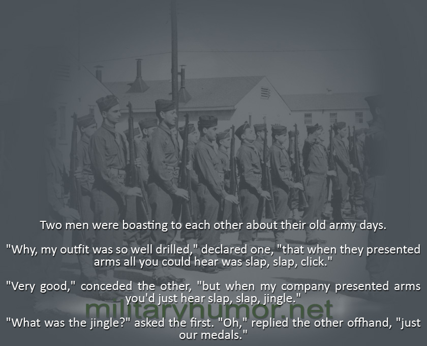 Bragging About Old Times - Military humor