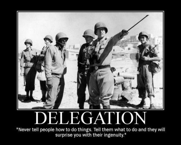 Delegation - Military humor