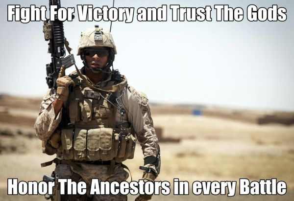 Fight For Victory And Trust The Gods - Military humor